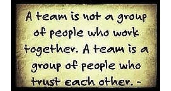 teams bestaan als er vertrouwen is